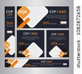 design web banners of different ... | Shutterstock .eps vector #1082872658