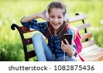 good mood in the city park.... | Shutterstock . vector #1082875436