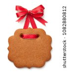 gingerbread cookie in shape of... | Shutterstock . vector #1082880812