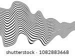 optical art wave abstract...   Shutterstock .eps vector #1082883668