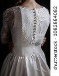supermodel in wedding bridal... | Shutterstock . vector #1082884082