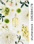 top view of bottle of aromatic... | Shutterstock . vector #1082884178