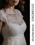 supermodel in wedding bridal... | Shutterstock . vector #1082885102
