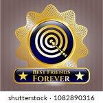 golden badge with target  b... | Shutterstock .eps vector #1082890316