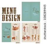 vector retro menu design | Shutterstock .eps vector #108289445