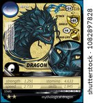 Blue Dragon Bust Game Card