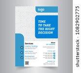 flyer design. business brochure ... | Shutterstock .eps vector #1082902775