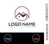 real estate logo design... | Shutterstock .eps vector #1082920175