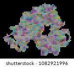 dotted northern ireland map.... | Shutterstock .eps vector #1082921996