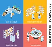automated shops isometric... | Shutterstock .eps vector #1082923736