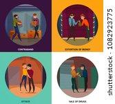 criminals concept icons set... | Shutterstock .eps vector #1082923775