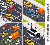 autonomous vehicle 2x2 design... | Shutterstock .eps vector #1082923925