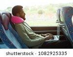 portrait of working man using... | Shutterstock . vector #1082925335