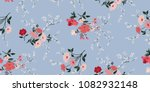 seamless floral pattern in... | Shutterstock .eps vector #1082932148
