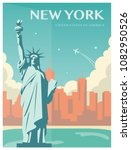 statue of liberty. new york... | Shutterstock .eps vector #1082950526