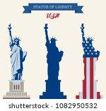 statue of liberty. world... | Shutterstock .eps vector #1082950532