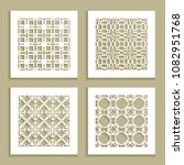 templates for laser cutting ... | Shutterstock .eps vector #1082951768