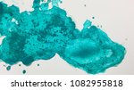 turquoise abstract watercolor... | Shutterstock . vector #1082955818