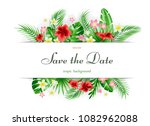 bright tropical background with ... | Shutterstock .eps vector #1082962088