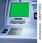 new modern atm bank teller... | Shutterstock . vector #1082974352
