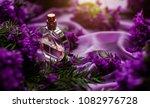 White Perfumes Bottle. Glass....