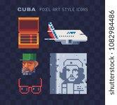 welcome to cuba  elements... | Shutterstock .eps vector #1082984486