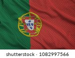 portugal flag printed on a... | Shutterstock . vector #1082997566