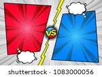 comic book versus template... | Shutterstock .eps vector #1083000056