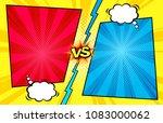 comic book versus template... | Shutterstock .eps vector #1083000062