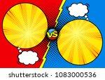 comic book versus template... | Shutterstock .eps vector #1083000536