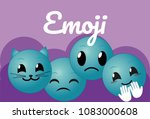 cute round emojis cartoons | Shutterstock .eps vector #1083000608