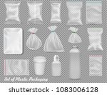 big collection of polypropylene ... | Shutterstock .eps vector #1083006128