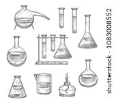 laboratory glassware and... | Shutterstock .eps vector #1083008552