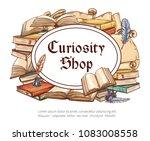 curiosity shop sketch poster of ... | Shutterstock .eps vector #1083008558