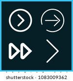 set of 4 next outline icons... | Shutterstock .eps vector #1083009362
