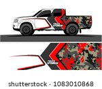 pickup truck livery graphic... | Shutterstock .eps vector #1083010868
