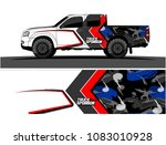 pickup truck livery graphic...   Shutterstock .eps vector #1083010928