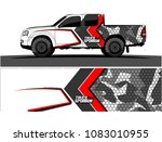 pickup truck livery graphic... | Shutterstock .eps vector #1083010955