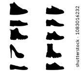 vector set of black silhouette... | Shutterstock .eps vector #1083016232