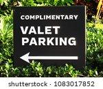 complimentary valet parking... | Shutterstock . vector #1083017852