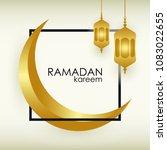 ramadan kareem greeting... | Shutterstock .eps vector #1083022655