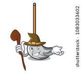 witch mop mascot cartoon style   Shutterstock .eps vector #1083033602