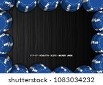 casino chips on a black... | Shutterstock .eps vector #1083034232