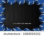 casino chips on a black... | Shutterstock .eps vector #1083034232