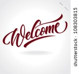'welcome' Hand Lettering ...
