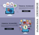 financial technology infographic | Shutterstock .eps vector #1083038438