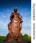 Small photo of Gallant statue of Chinese moslem admiral cheng ho in sam po kong pagoda, Semarang, Central Java, Indonesia.