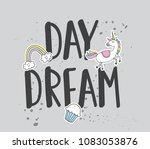 trendy t shirt design with... | Shutterstock .eps vector #1083053876