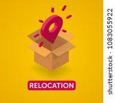 relocation fullcolor banner   Shutterstock .eps vector #1083055922