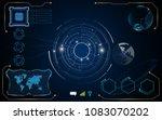 ui hud display template tech... | Shutterstock .eps vector #1083070202